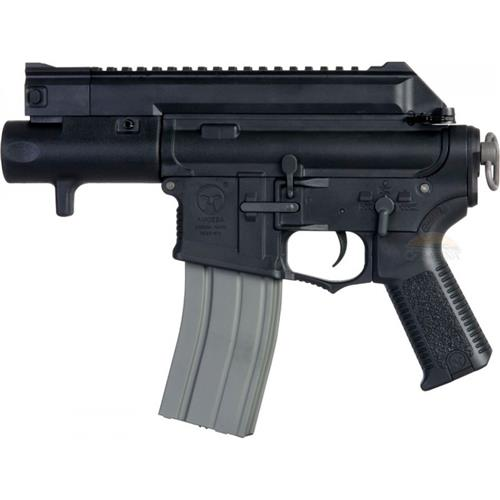 Rifle Airsoft M4CCP Tatical Amoeba Pistol Gun Black (Eletrico) - Cal 6mm (Ares)