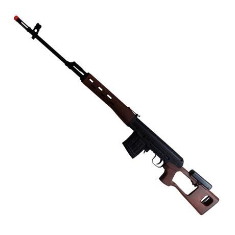 Rifle Airsoft Kalashnikov Sniper Svd Wood - Cal 6mm (King Arms)