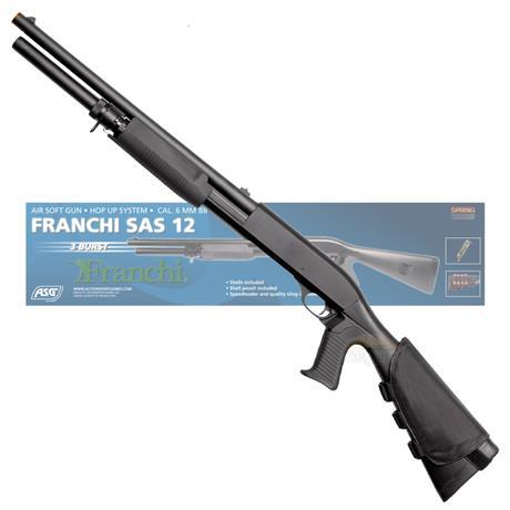 Shotgun Airsoft Espingarda FRANCHI SAS 12 Cal 6mm - Franchi