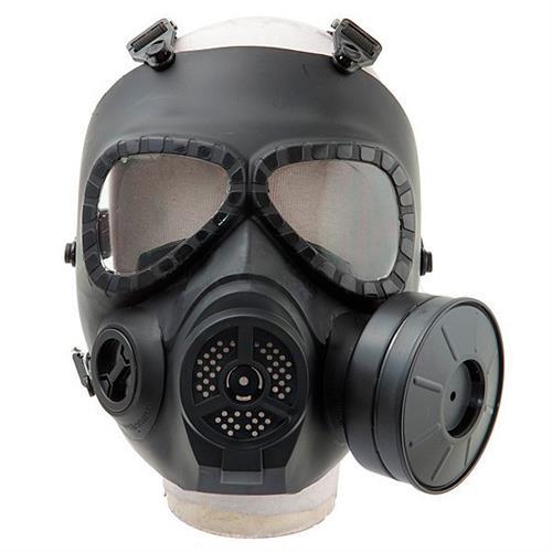 Mascara Airsoft Anti Gas (Réplica) com Ventilação (FMA) - Preta