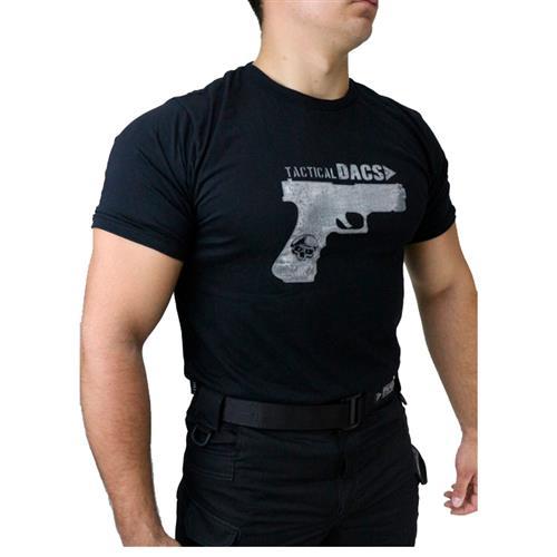 Camiseta Preta Tactical DACS - GLOCK (GG)