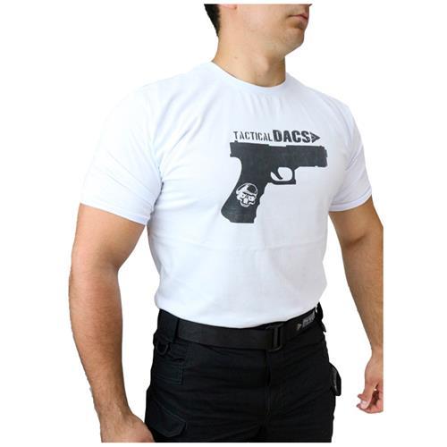Camiseta Branca Tactical DACS - GLOCK (G)