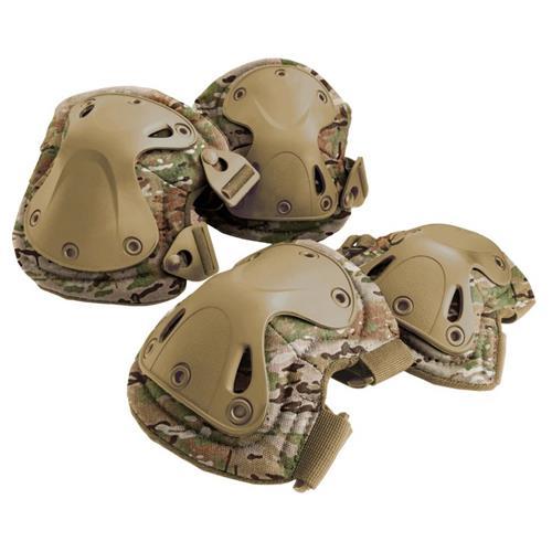 Kit de Proteção Airsoft - Joelheira e Cotoveleira (Camuflagem Multicam) Actionx
