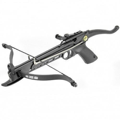 Balestra Pistola Recurva 80 Libras em Polimero + 03 Flechas - Man Kung