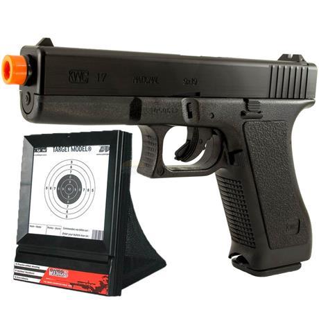 Pistola de Airsoft GLOCK G7 - Cal 6mm (KWC) + Alvo Coletor Swiss Arms