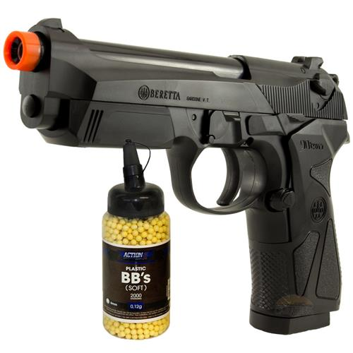Pistola de Airsoft Beretta 90 TWO (Metal Barrel) - Cal 6mm + 2000 BBS 0,12G