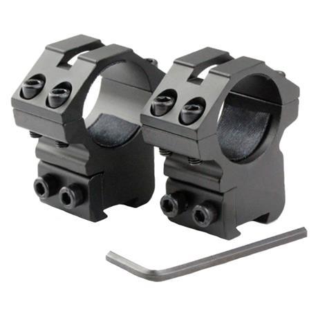Suporte de Aluminio Alto de Fixacao com 04 Pontos de Aperto e base superior Vazada (Trilhos 11mm)