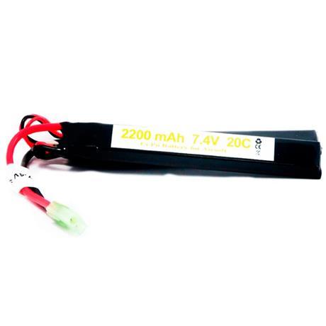 Bateria para Airsoft LIPO 7,4V - 2200MAH