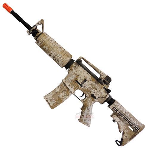Rifle Airsoft M4A1 Navy Seals DD Eletrico (Camuflado) (Full Metal) 6mm - King Arms