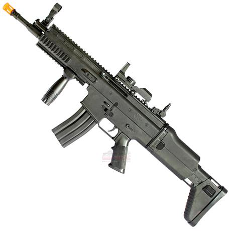 Rifle de Airsoft SCAR-L Black Spring 6mm
