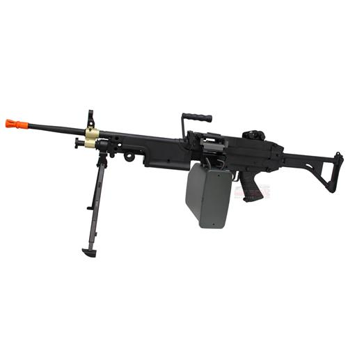 Metralhadora Airsoft M249 (Elétrico) (FULL METAL) - Cal 6mm - A&K