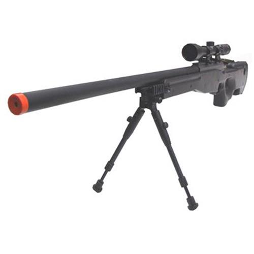 Fuzil Sniper Airsoft Mauser Sr + Bipe + Bandoleira + Speedloader - Cal 6mm (CyberGun)