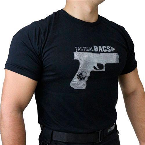 Camiseta Preta Tactical DACS - GLOCK (G)
