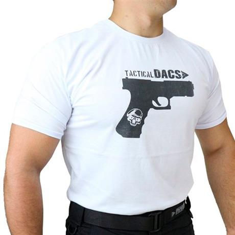 Camiseta Branca Tactical DACS - GLOCK (M)