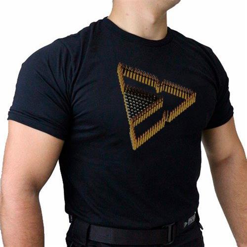 Camiseta Preta Tactical DACS - TRIANGULO DE MUNICAO (M)