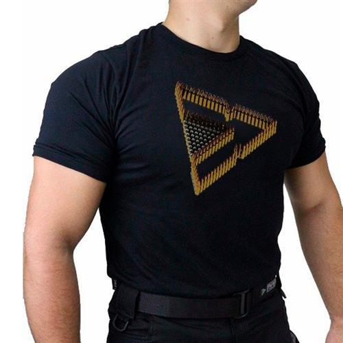Camiseta Preta Tactical DACS - TRIANGULO DE MUNICAO (G)
