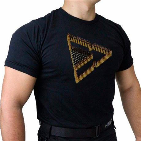 Camiseta Preta Tactical DACS - TRIANGULO DE MUNICAO (GG)