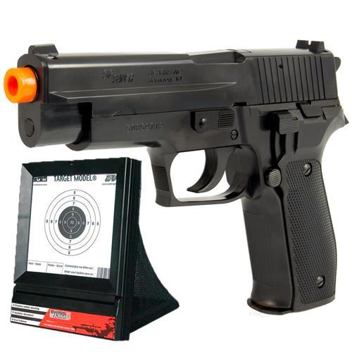 Airsoft Pistola SIG SAUER P226 + Alvo Coletor Swiss Arms