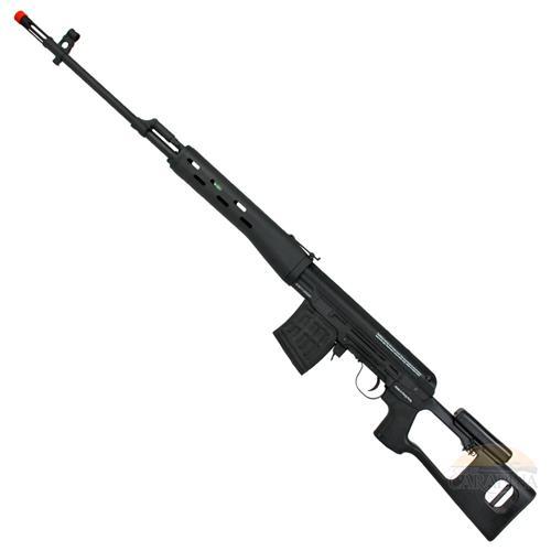 Rifle de Airsoft Kalashnikov Sniper Dragunov (Eletrico) (Full Metal) - King Arms + Bateria LIPO