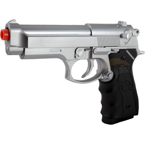 Pistola de Airsoft Beretta 92 Prata Spring 6mm - Galaxy