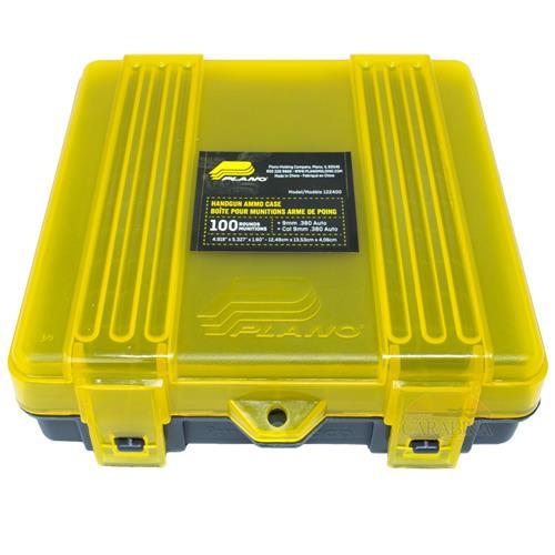 Caixa Plano para Municao (100 un) - Cal 9mm e .380  (Amarelo/Preto)
