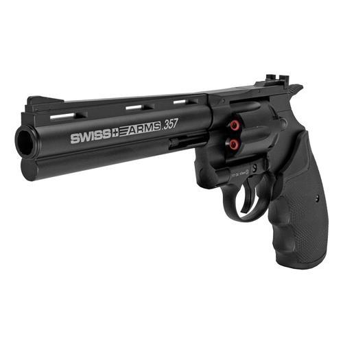 """Revolver de Pressão CO2 Full Metal 4.5 COLT Python 357 6"""" Swiss Arms"""