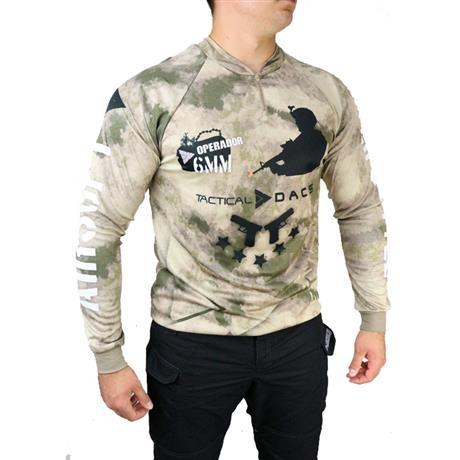 Camisa Sublimada Airsoft Dry Fit com Proteção Solar Camuflada Tam: M Dacs