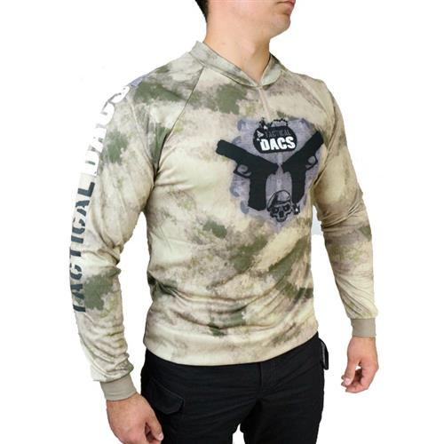 Camisa Sublimada Double Pistol  Dry Fit com Proteção Solar - (M) Dacs