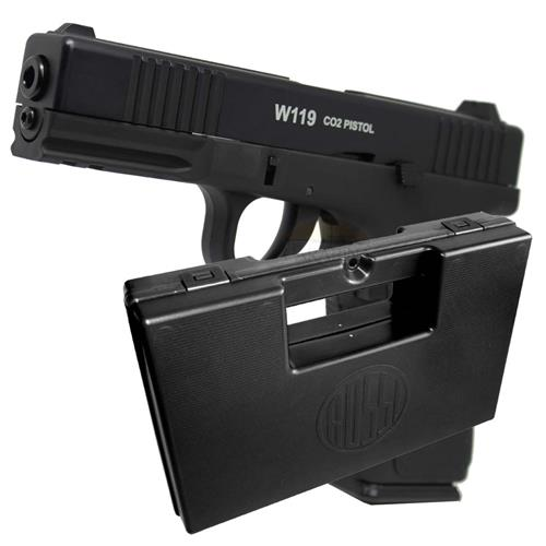 Pistola CO2 W119 Slide Metal Blow Back 4.5 + Case Rossi