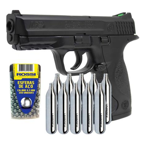 Pistola CO2 MP40 S&W Slide Metal 4.5 + 10 CO2 + 300 Esferas
