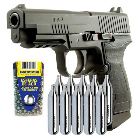 Pistola CO2 HPP Full Metal Blow Back 4.5 + 10 CO2 + 300 Esferas